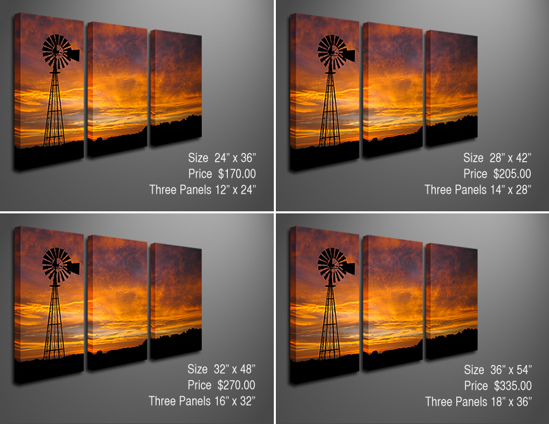 Canvas Photo Splits: Sizes and Prices