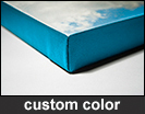 Custom Colored Edge Canvas Photo