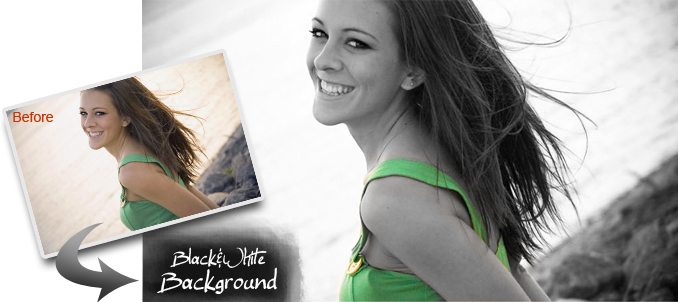 Canvas Photo Effects: Black & White Background
