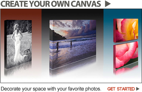Photos to Canvas Gallery Wraps. Thin, Deep, Photo Splits.