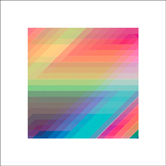 Spectrum 1 - Hot Pink, Teal, Colorful Neon Geometric Art.